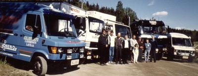 Kalusto ja henkilökunta 1991